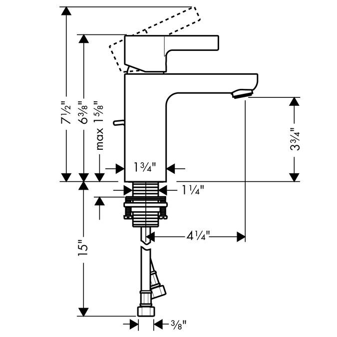 hansgrohe bathroom faucet manual