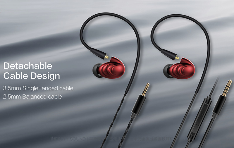In line with FiiO's direction, the F9 earphones support balanced cables too.