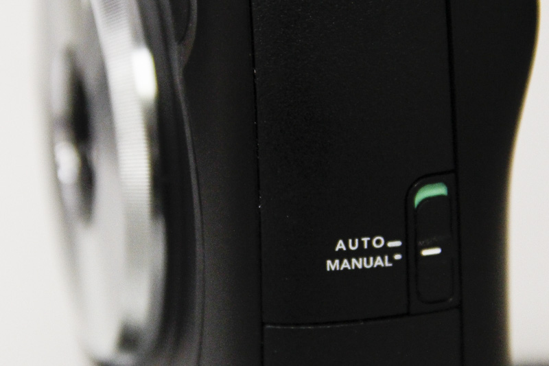 Besides the mains set of controls at the rear, the only other physical control can be seen on the side of the camera to select the print mode.