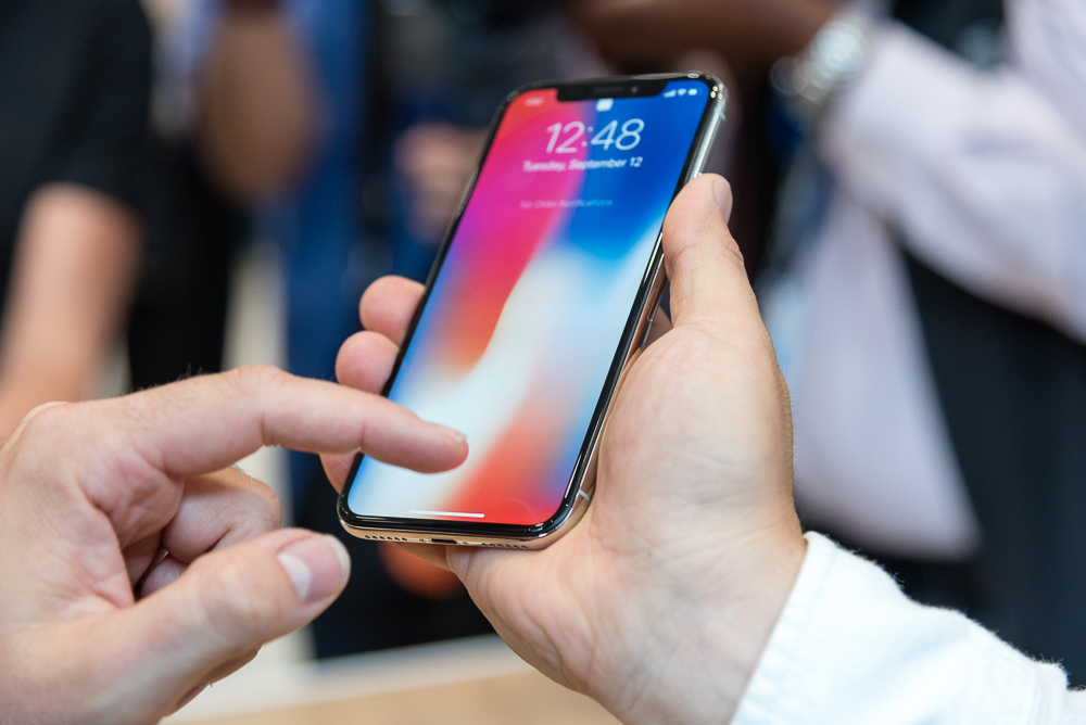 The iPhone X is so pretty.