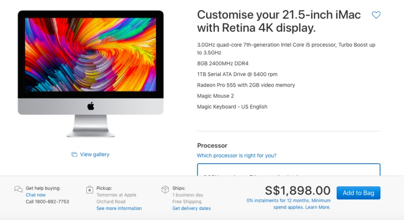 21.5-inch iMac with Retina 4K Display