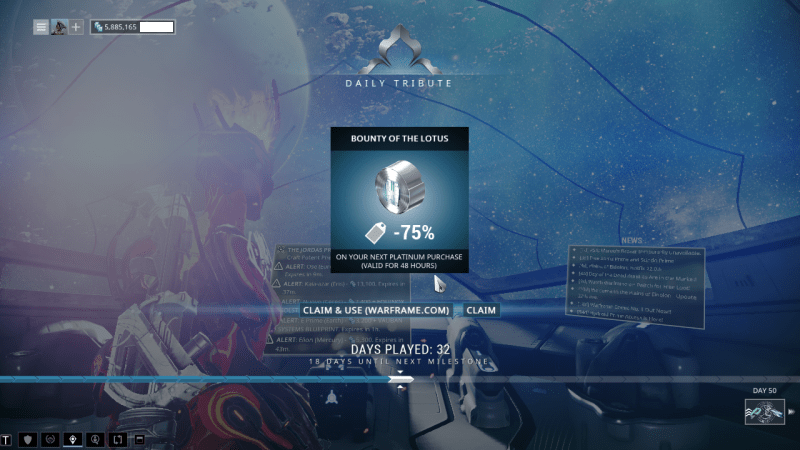 The first login reward I received after months of inactivity, and I logged in almost entirely for the sake of this piece.