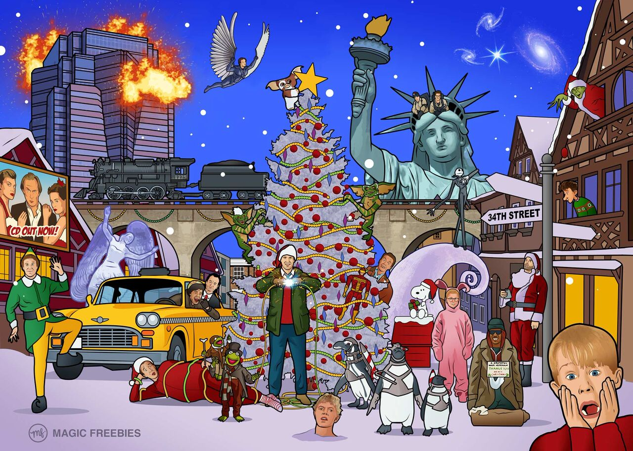 Can You Spot The 25 Christmas Movies Hidden In This