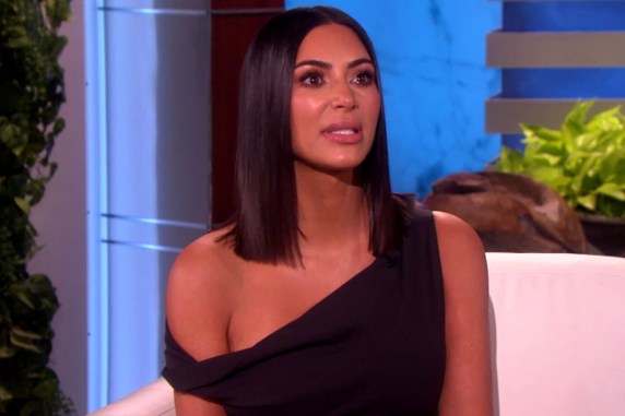 Image result for Kim k on Ellen DeGeneres 2017