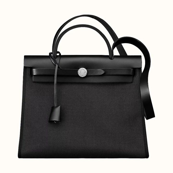 Hermès Herbag in black