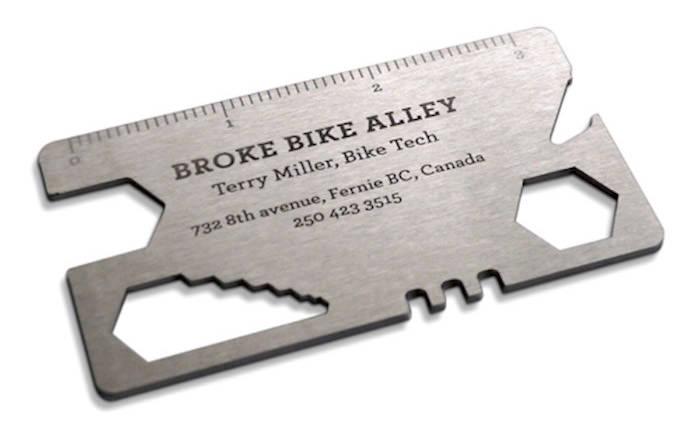 Metal Bike Tool Business Card