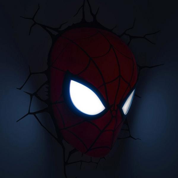3D Wall Art Nightlight - Лицо Человека-паука