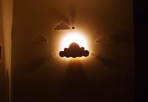 DIY облака ночник