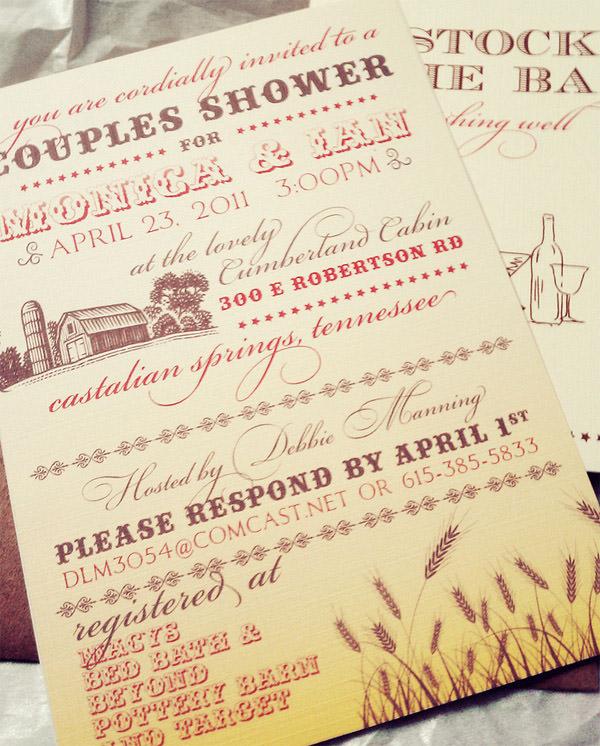 Hatch Shower Bridal Invitation