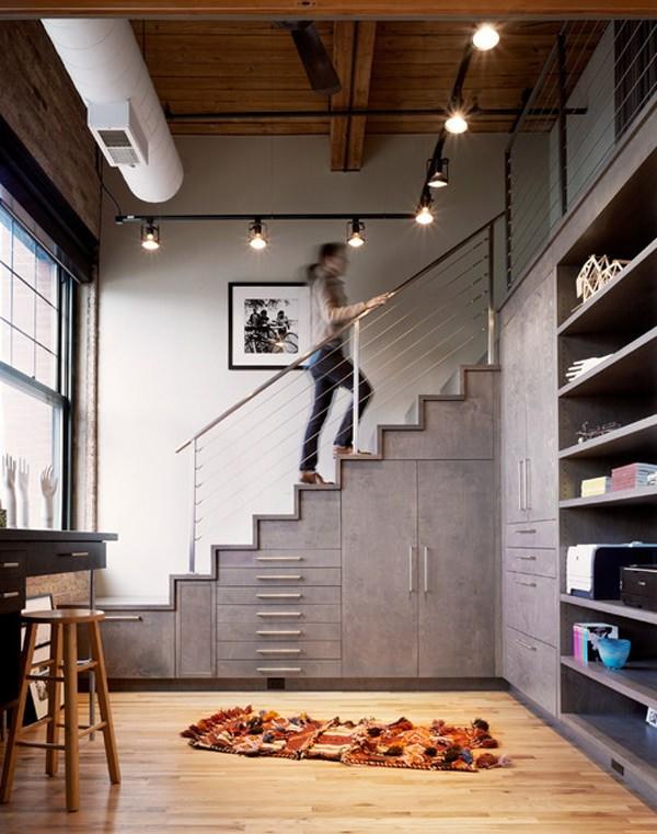 20 Creative Ideas To Use The Space Under Your Stairs Hongkiat | Modern Under Stairs Storage | Hallway Understairs Storage | Grey | Home Stair | Bajo | Minimal