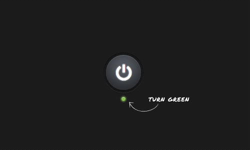 кнопка становится зеленой
