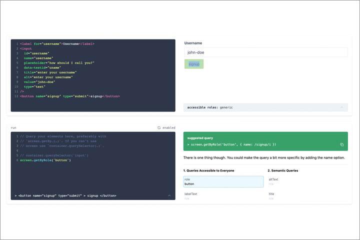 Testing setup example