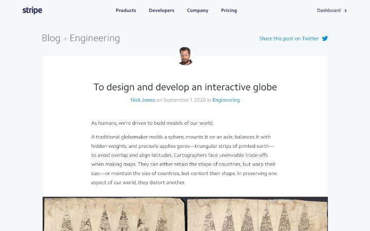 Stripe.com Globe Учебник