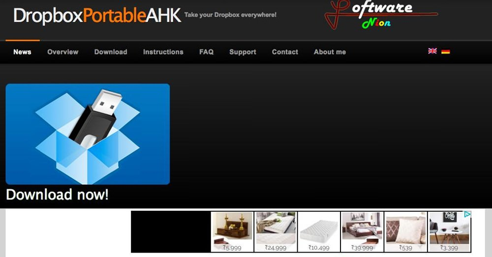dropbox портативный ahk