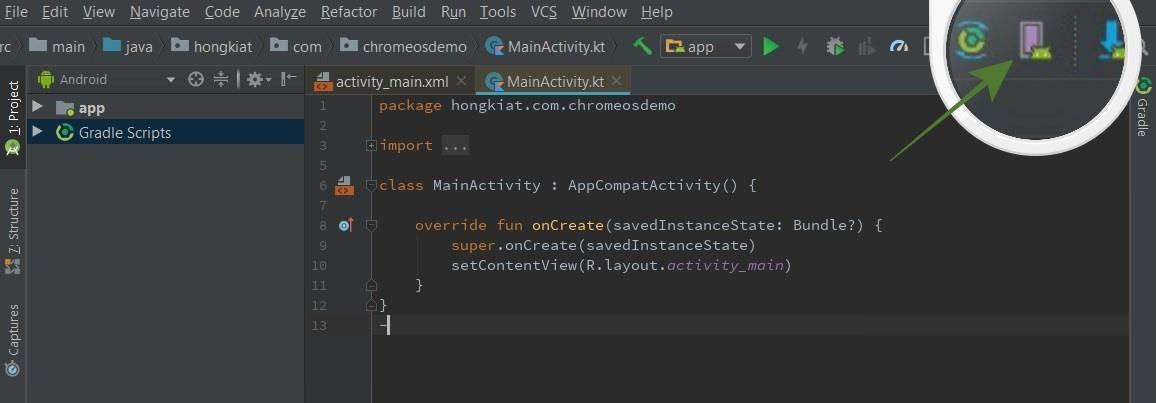 Open AVD Manager in Android Studio