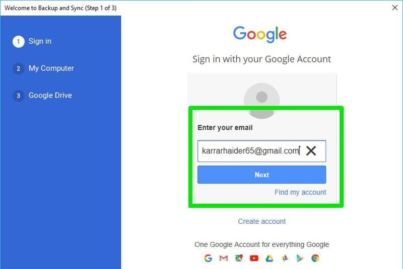 войдите, используя дополнительную учетную запись Google