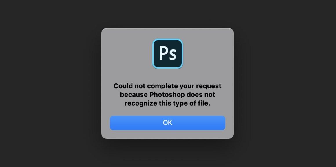 Ошибка Photoshop .webp