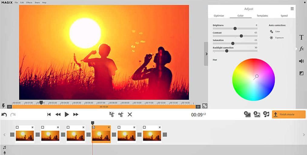 Optimize/adjust video in Magix