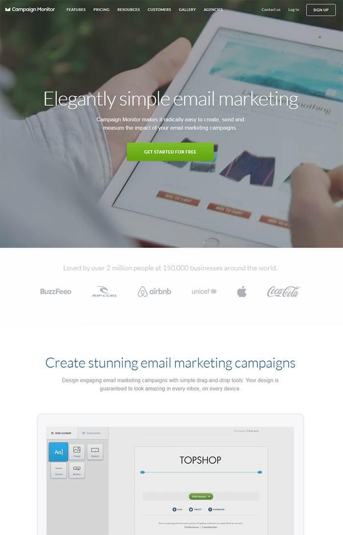 домашняя страница веб-сайта монитора кампании