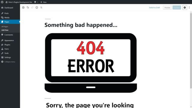 404page helps create error pages