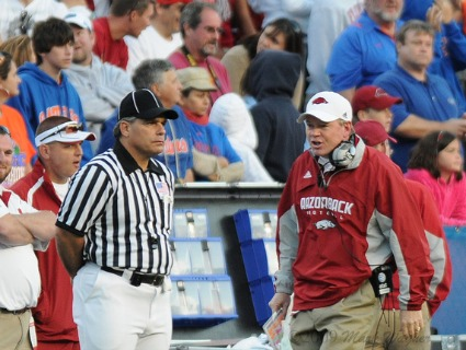 Questionable calls at Florida in 2009 cost the Razorbacks a win and drew the ire of then coach Bobby Petrino.