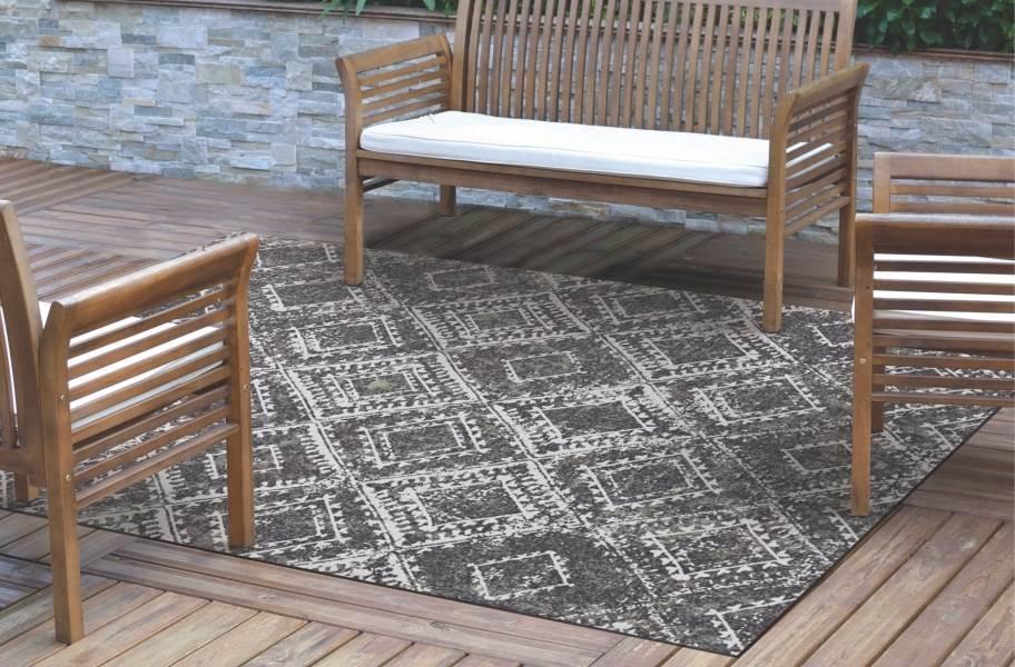 ikat indoor outdoor area rug