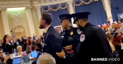 Full Video: Reporter Arrested After Calling Impeachment Hearings a Scam