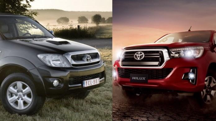 Toyota Hilux 2009 y 2019.