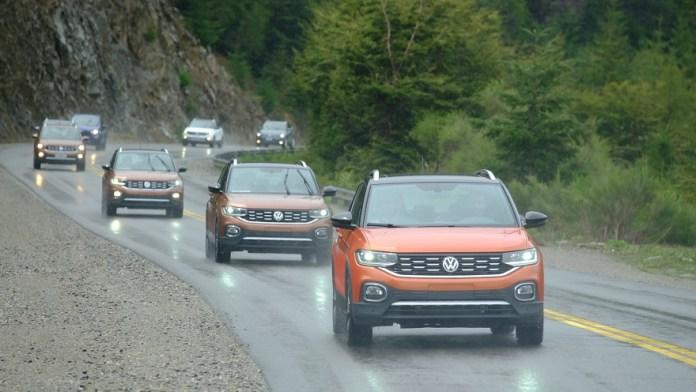Volkswagen T-Cross, caravana de lanzamiento.