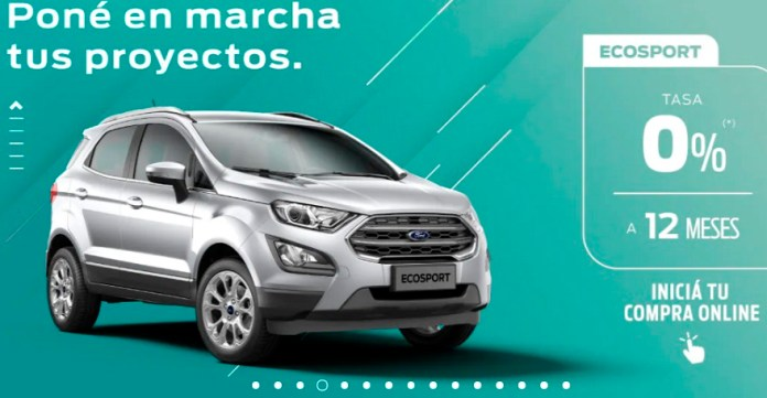 Ford Ecosport, with a term of 12 months.