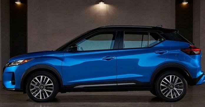 Así luce de perfil el nuevo Nissan Kicks 2021.