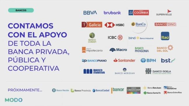 Más de 30 bancos ya se subieron a MODO