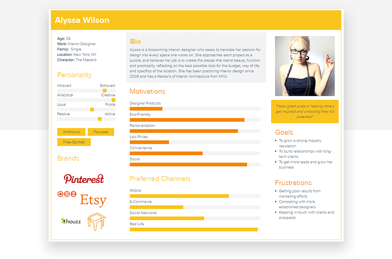 15 Examples Of Great User Persona Templates Justinmind