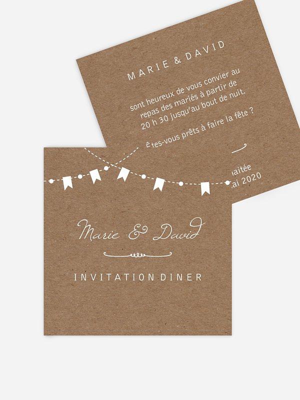 carte d invitation fete champetre