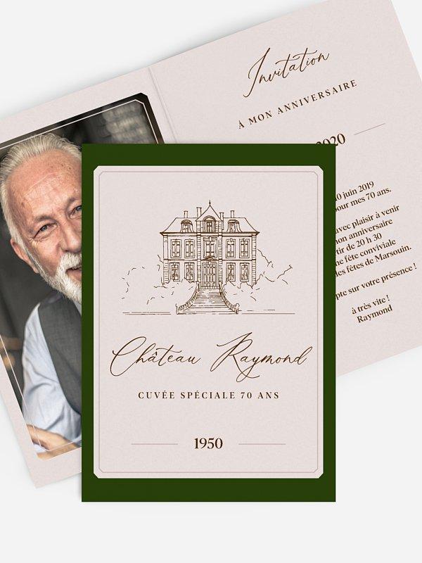 invitation anniversaire 70 chateau