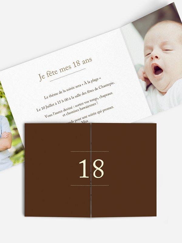 invitation anniversaire 18 precision