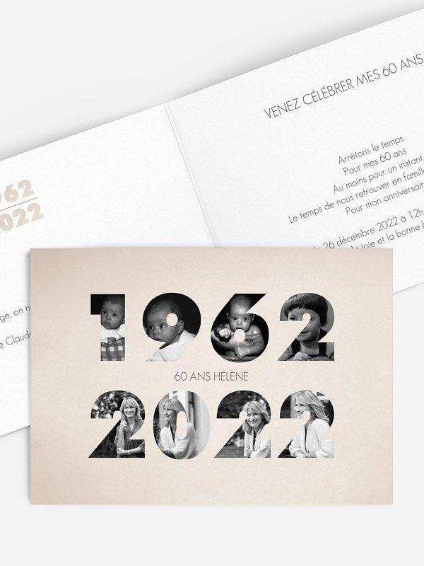 invitation anniversaire 60 1960 2020