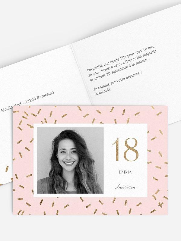 invitation anniversaire 18 jour de fete
