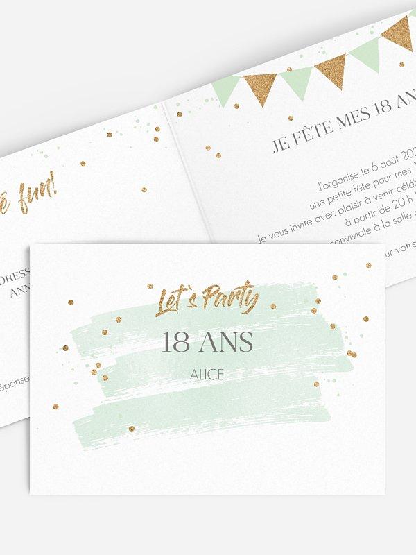 Invitation Anniversaire 18 Jour Festif