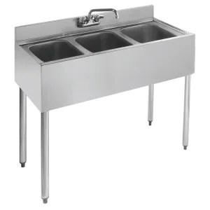 3 compartment sink 3 bay sink under