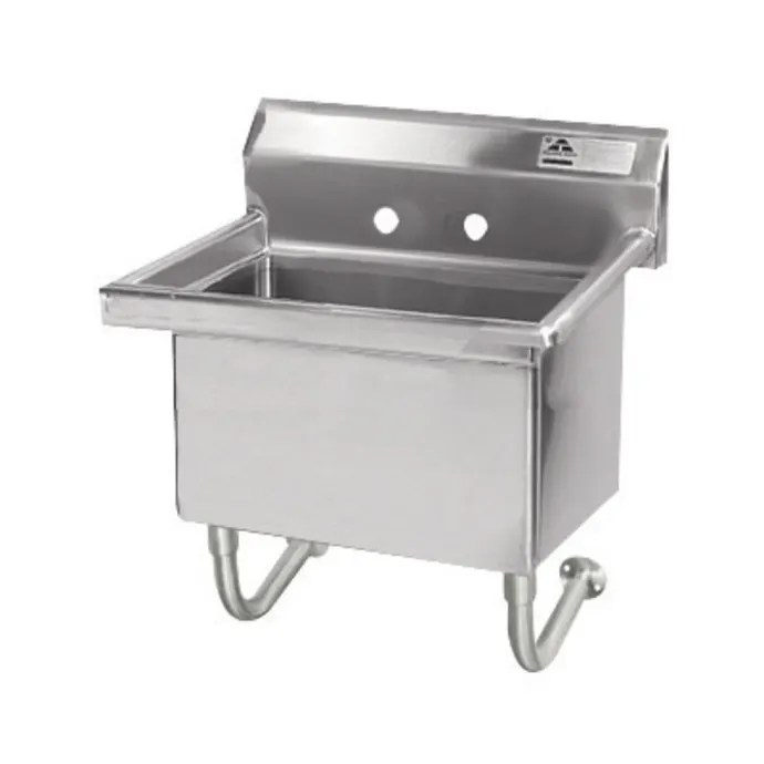 advance tabco fs wm 2721 wall mount mop sink w 12 d bowl basket drain