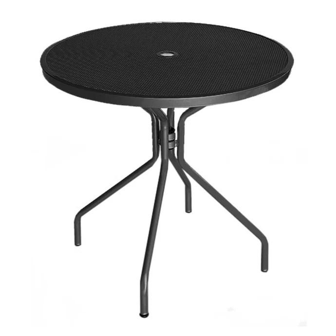 emu 803 32 round cambi indoor outdoor table w umbrella hole steel antique black