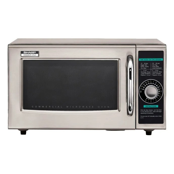 sharp r 21lcfs 1000w commercial microwave w dial control 120v