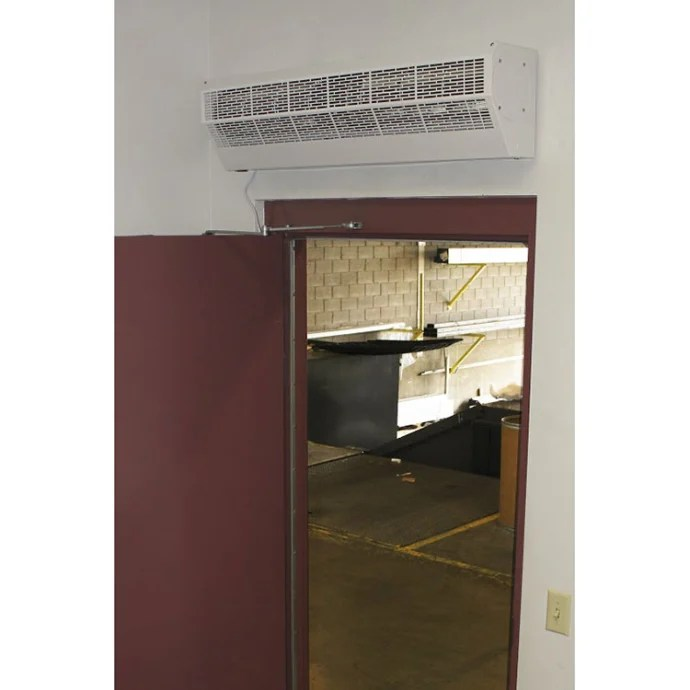 curtron ap 2 36 1 pc 36 air pro white powder coated air curtain