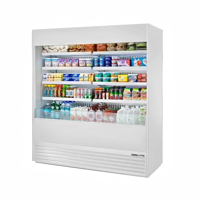 true toam 72 hc nsl01 72 vertical open air cooler w 5 levels white 208 230v 1ph