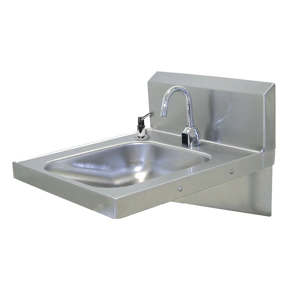 advance tabco 7 ps 26 wall mount commercial touchless hand sink w 14 l x 16 w x 5 d bowl ada compliant