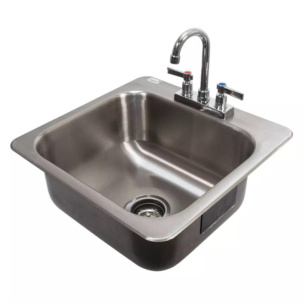 advance tabco di 1 168 1 compartment drop in sink 16 x 14 drain included