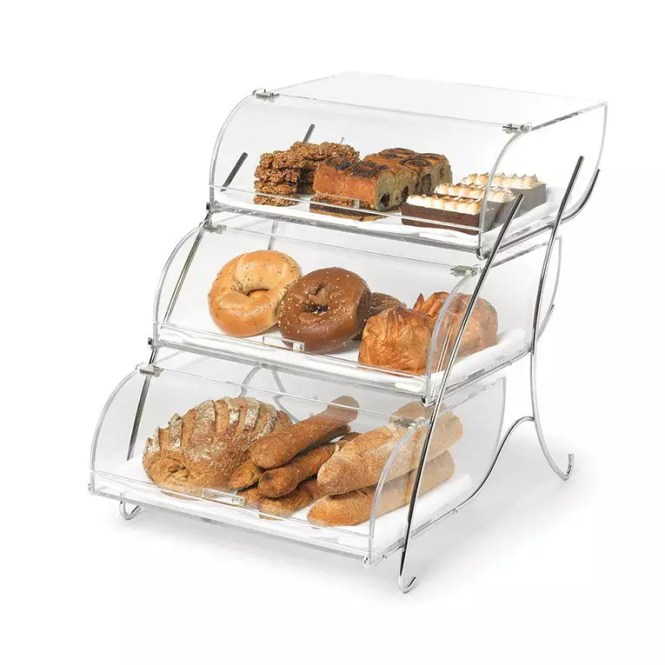 3 Tier Countertop Bakery Display Case