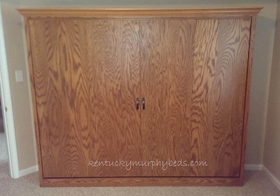 Oak queen size panel Murphy bed