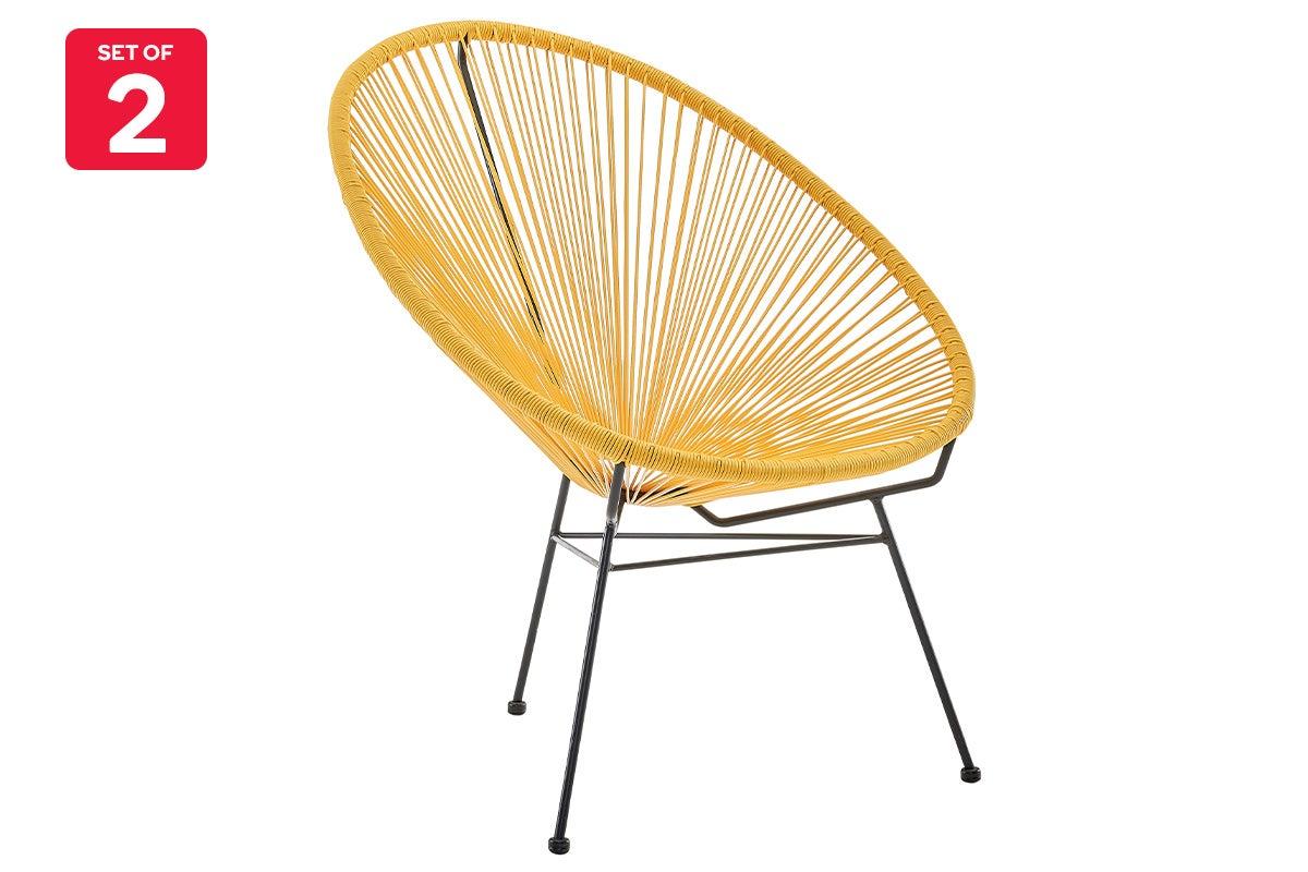 matt blatt set of 2 acapulco outdoor furniture chair replica yellow